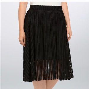TORRID black overlay skirt